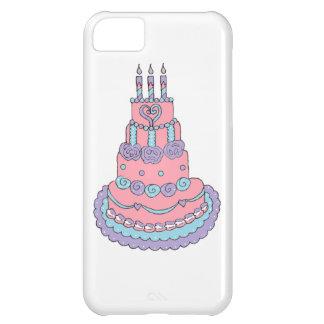Torta de cumpleaños rosada bonita