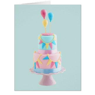 Torta de cumpleaños tarjeta de felicitación grande