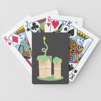 Torta de cumpleaños verde alta barajas de cartas