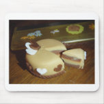 Torta de dos corazones tapetes de ratones