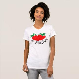 Torta de frutas de la fresa camiseta