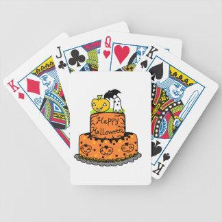 Torta de Halloween Baraja Cartas De Poker