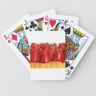 Torta de la fresa con la menta barajas de cartas