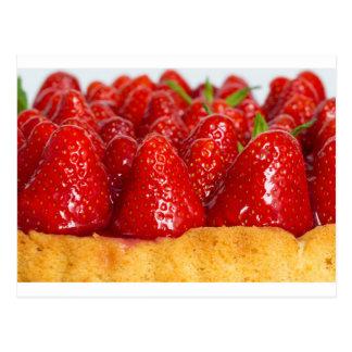 Torta de la fresa con la menta postal