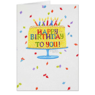 Torta de la tarjeta de felicitación del cumpleaños