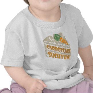 Torta de zanahoria camisetas