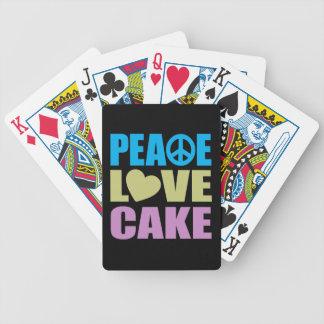 Torta del amor de la paz baraja