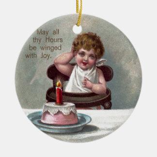 Torta del Año Nuevo y de cumpleaños del bebé Adornos