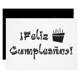 torta del arriba de los cumpleanos del feliz invitación 8,9 x 12,7 cm