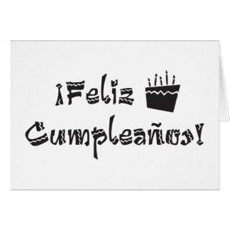 torta del arriba de los cumpleanos del feliz tarjeta de felicitación