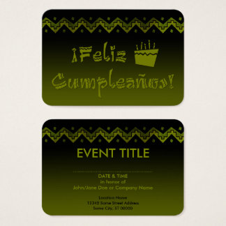 torta del arriba de los cumpleanos del feliz tarjeta de negocios