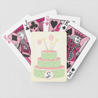 Torta del confeti • Torta de cumpleaños verde Cartas De Juego