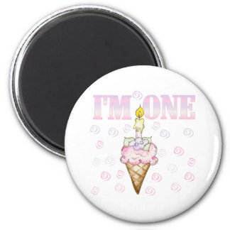 Torta del cono de helado soy una imán redondo 5 cm