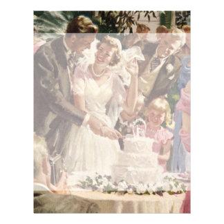 Torta del corte de los recienes casados del novio folleto 21,6 x 28 cm
