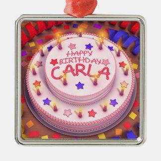 Torta del cumpleaños de Carla Ornamentos De Reyes Magos