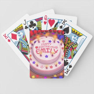 Torta del cumpleaños de Emily Baraja De Cartas