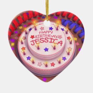 Torta del cumpleaños de Jessica Adornos De Navidad