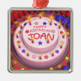 Torta del cumpleaños de Joan Ornamento De Navidad
