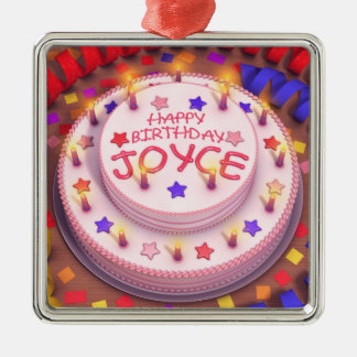 Torta del cumpleaños de Joyce Ornamentos De Reyes