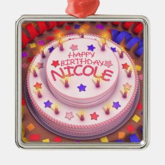 Torta del cumpleaños de Nicole Adornos