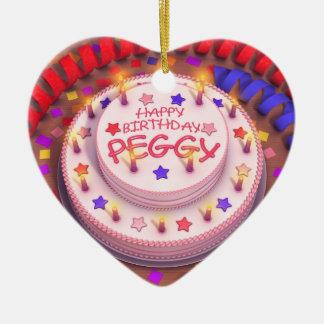 Torta del cumpleaños de Peggy Ornamento De Reyes Magos
