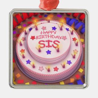 Torta del cumpleaños del SIS Ornamentos Para Reyes Magos