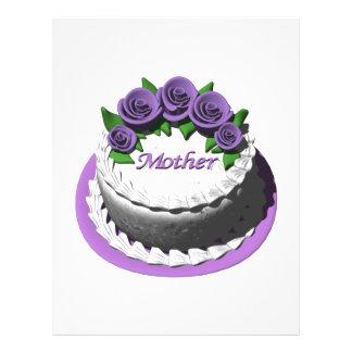 Torta del día de madres folleto 21,6 x 28 cm