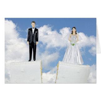 Torta del divorcio tarjeta de felicitación