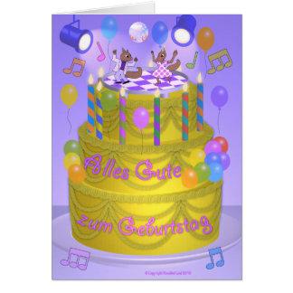 """Torta del """"feliz cumpleaños"""" (alemana) felicitación"""