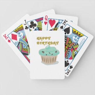 Torta del feliz cumpleaños baraja