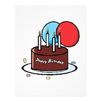 Torta del feliz cumpleaños tarjetas informativas