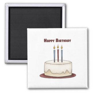 Torta del feliz cumpleaños iman