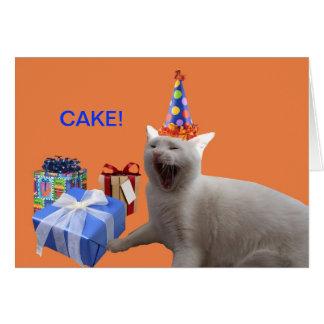 TORTA del feliz cumpleaños Tarjeta De Felicitación