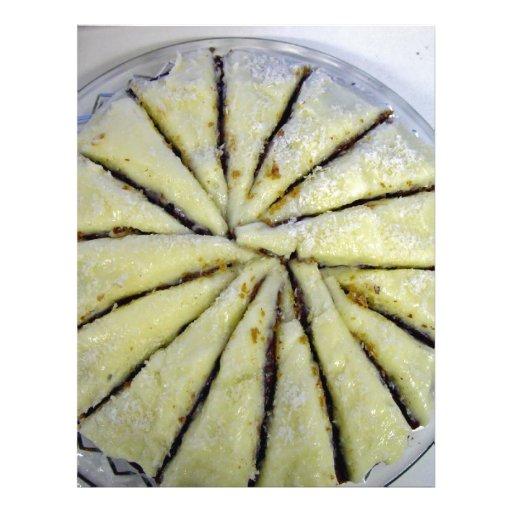 Torta del limón, corte del semi-espiral flyer a todo color