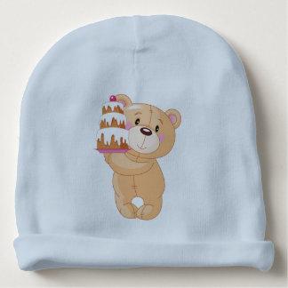 torta del oso de peluche gorrito para bebe