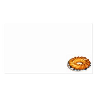 torta del rhum de au de bizcocho borracho tarjetas de visita