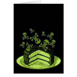 Torta del veneno tarjeta de felicitación