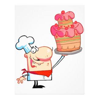 torta divertida de la tenencia del cocinero del folleto 21,6 x 28 cm