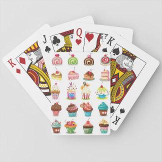 Torta dulce cartas de póquer