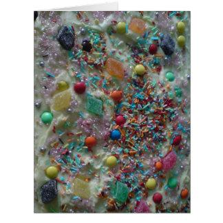 Torta dulce de las invitaciones tarjeta de felicitación grande
