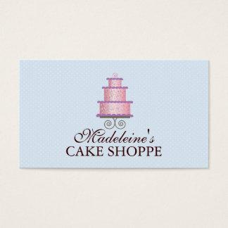 Torta elegante en tarjeta de visita de encargo