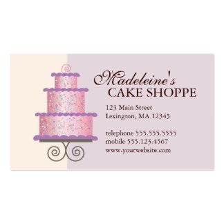 Torta elegante en tarjeta de visita de encargo azu