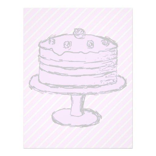 Torta en purpúreo claro en rosa tarjetas publicitarias