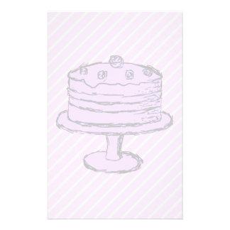 Torta en purpúreo claro en rosa folleto 14 x 21,6 cm