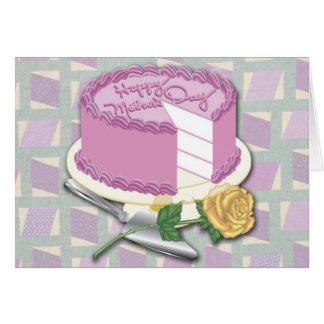 Torta feliz del día de madre tarjeta de felicitación