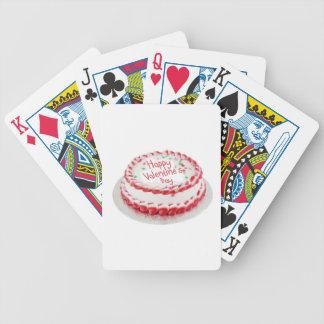 Torta feliz del el día de San Valentín Baraja Cartas De Poker