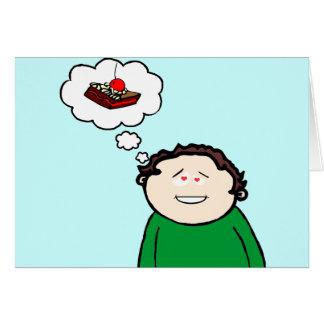 Torta gorda de los amores del niño tarjeta de felicitación