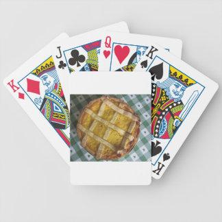 Torta italiana tradicional Pastiera Napoletana Baraja Cartas De Poker