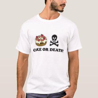 torta o muerte (chocolate) camiseta