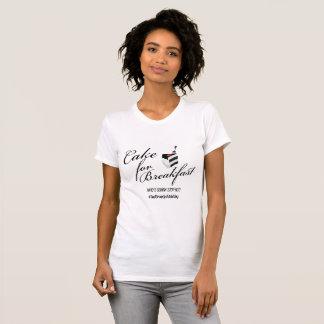 Torta para el desayuno Camisa-Negro+Blanco Camiseta